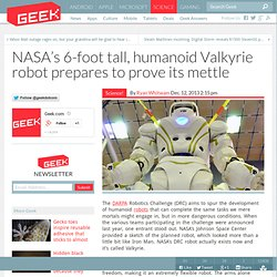 NASA's 6-foot tall, humanoid Valkyrie robot prepares to prove its mettle