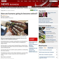 How are humans going to become extinct?
