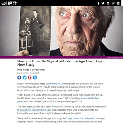 Humans show no sign of a maximum age limit, says new study