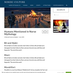 Humans Mentioned in Norse Mythology