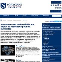 Humanum : une chaire dédiée aux enjeux du numérique pour les humanités