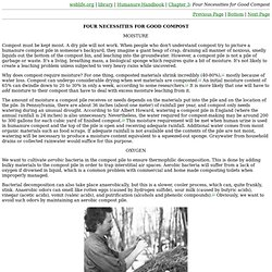 weblife.org: Humanure Handbook: Chapter 3: Four Necessities for Good Compost