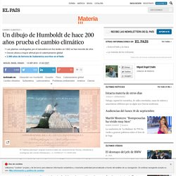 Un dibujo de Humboldt de hace 200 años prueba el cambio climático
