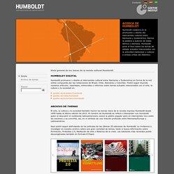 Humboldt - Tema actual - Ensayos para el diálogo cultural con el mundo iberoamericano-Goethe-Institut