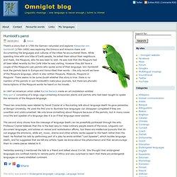 blog » Blog Archive » Humboldt's parrot