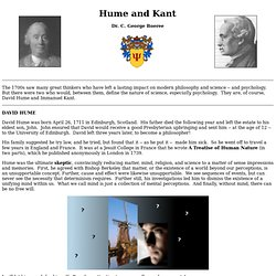 Hume and Kant