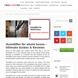 Humidifier for whole house – Ultimate Guides & Reviews