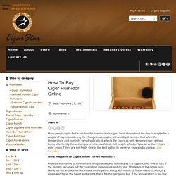 How To Buy Cigar Humidor Online