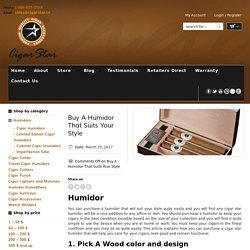 Buy A Humidor Dividers That Suits Your Style