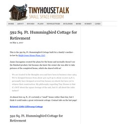 592 Sq. Ft. Hummingbird Cottage for Retirement