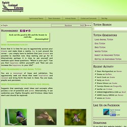 Hummingbird - A Message from one of our Spirit Animals