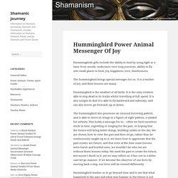 Hummingbird Power Animal Messenger Of Joy