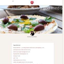 Hummus – extra god med tahinidressing