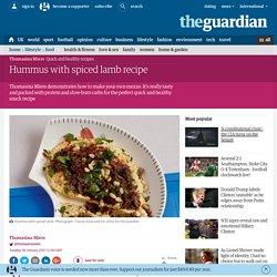Hummus with spicedlamb recipe