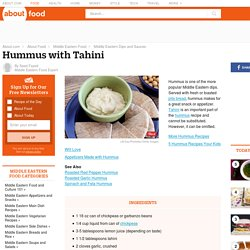 Hummus Recipe - How to Make Hummus