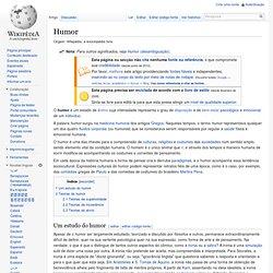 Humor - Wikipédia, a enciclopédia livre