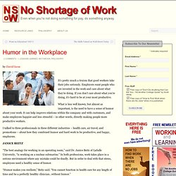 No Shortage of Work » Permalink: Humor in the Workplace