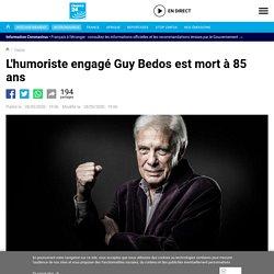 L'humoriste engagé Guy Bedos est mort à 85 ans...