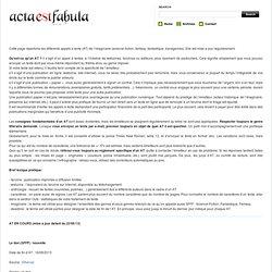 Acta est Fabula - Un regard critique et/ou humoristique sur l'actualité fantasy