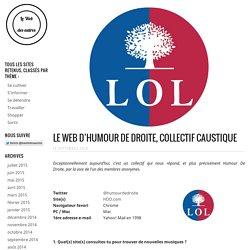 Le Web d'Humour De Droite, Collectif Caustique
