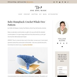 Baby Humpback Crochet Whale Free Pattern - One Dog Woof