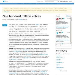 One hundred million voices