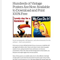 Hundreds of Vintage Posters Are Now Available to Download and Print 100% Free - Creators