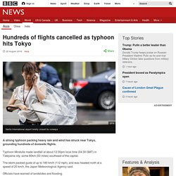 Hundreds of flights cancelled as typhoon hits Tokyo