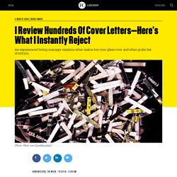 I Review Hundreds Of Cover Letters
