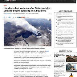 Hundreds flee in Japan after Shinmoedake volcano begins spewing ash, boulders