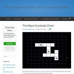 The Maze Hundreds Chart - Steve Wyborney's Blog: I'm on a Learning Mission.