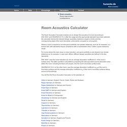 Room Acoustics Calculator