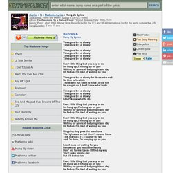 HUNG UP Lyrics - MADONNA