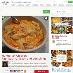 Hungarian Chicken Paprikashchicken And Dumplings Recipe