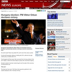 Hungary election: PM Viktor Orban declares victory