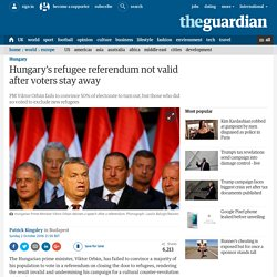 Hungary's refugee referendum not valid after voters stay away