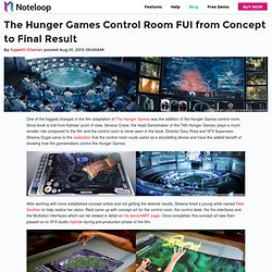 The Hunger Games Control Room FUI from Concept to Final Result