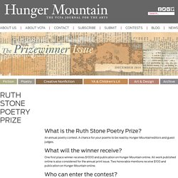Hunger Mountain - VCFA Journal of the Arts