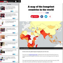 A map of the hungriest countries in the world