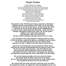 Hungry Mungry - Shel Silverstein
