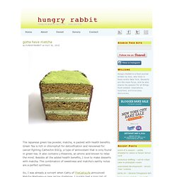 Hungry Rabbit- Matcha Dacquoise Cake