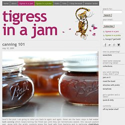 hungry tigress » canning 101: