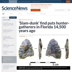 'Slam-dunk' find puts hunter-gatherers in Florida 14,500 years ago