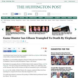 Hunter Ian Gibson Trampled To Death By Elephant He Was Tracking To Kill For Ivory