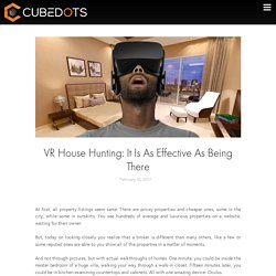 VR House Hunting: It Is As Effective As Being There - CubeDots
