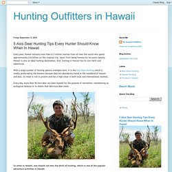 Hunting Outfitters in Hawaii: 5 Axis Deer Hunting Tips Every Hunter Should Know When In Hawaii