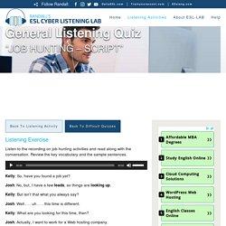 Randall's ESL Cyber Listening Lab