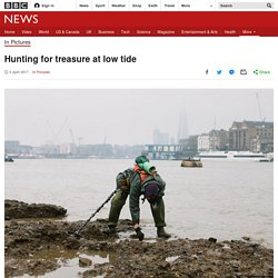Hunting for treasure at low tide