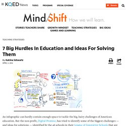 7 Big Hurdles In Education and Ideas For Solving Them