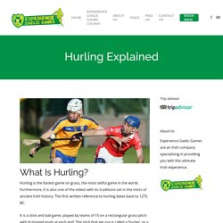Hurling Explained - Experience Gaelic Games